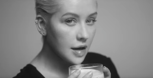Christina Aguilera appears fresh faced in her latest music video. (Photo: Vevo)