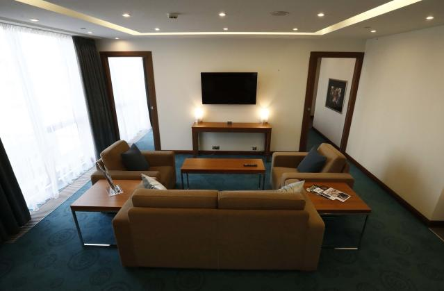 An interior view shows an executive suite of the Radisson Blu hotel, which was chosen to be the venue specific team hotel during the 2018 FIFA World Cup, in Kaliningrad, Russia April 12, 2018. REUTERS/Sergei Karpukhin