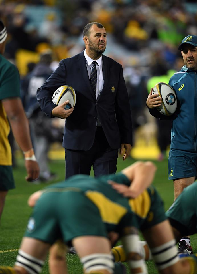 Australia's head coach Michael Cheika (AFP Photo/SAEED KHAN)