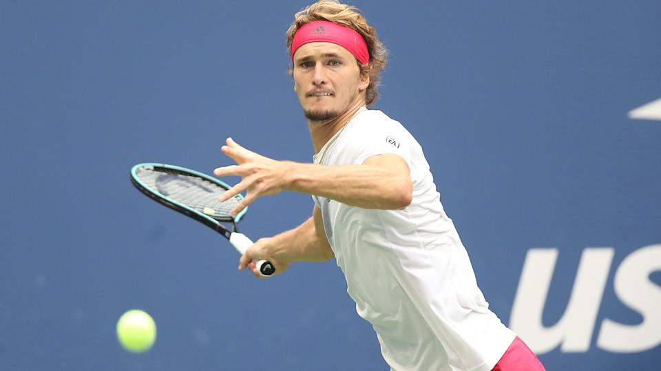Alexander Zverev, pictured here in action against Dominic Thiem in the US Open final.