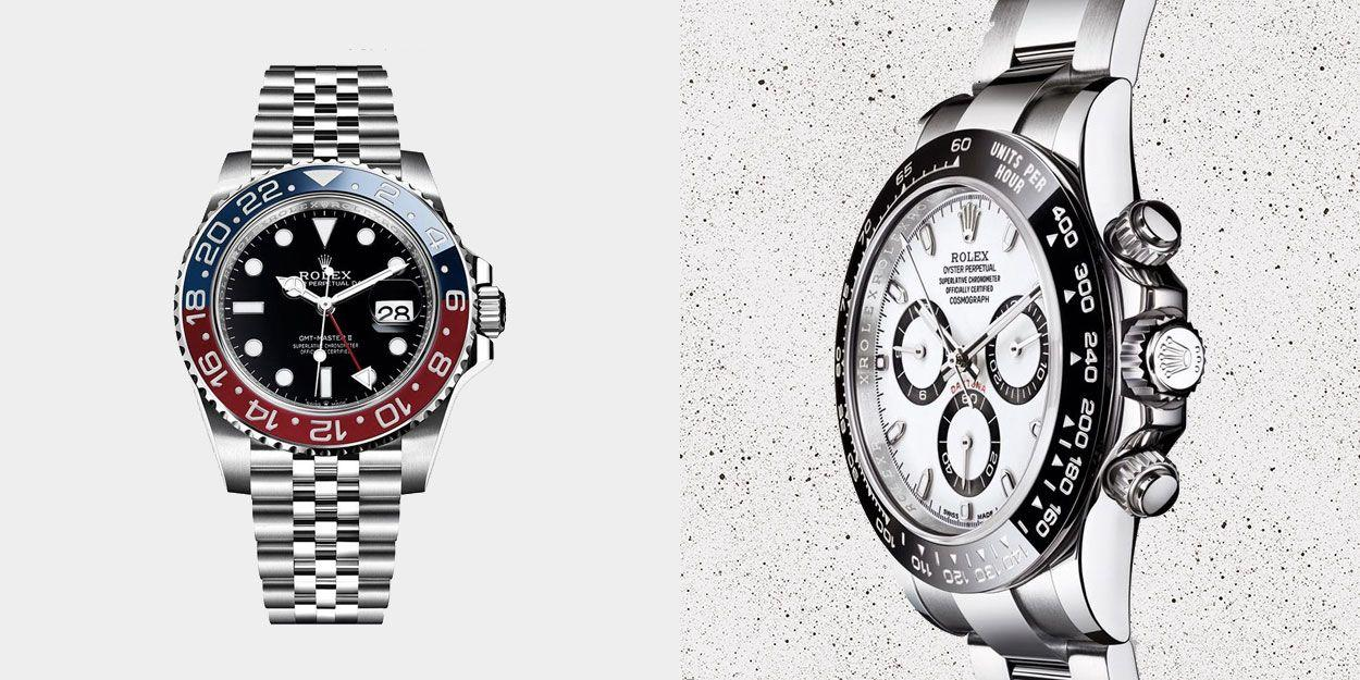 """<p>Rolex's founder, Hans Wilsdorf, was onto something when he made his company logo a crown – it has remained the king of watch brands for more than a century. Its enormous brand equity is partly because Rolex gives so little away, a key to its mystique. It is frequently ranked first in surveys of super-brands in the UK and is resident in Forbes' list of the world's most powerful brands. Ask 100 people to name a <a href=""""//www.esquire.com/uk/style/watches/g25973970/best-mens-watches/"""" target=""""_blank"""">luxury watch</a> and most of them will say Rolex. </p><p>But this reputation is not mere marketing – Rolex is Rolex because it makes peerless products. We love the fact that so many of the classic Rolex models were made not just to look good, but for specific, adventurous purposes. The GMT-Master, for example, was created for Pan-Am's pilots, then experiencing a new phenomenon called jet-lag — they wanted a watch that showed two time zones simultaneously. The Submariner was made for divers. The Milgauss was introduced in the Fifties as an anti-magnetic watch for people who worked in power plants, medical facilities and early nuclear research labs, where strong electromagnetic fields were present.</p><p>Collectors are particularly passionate about Rolex sports models, which have long been associated with explorers, adventures and athletes. In addition to the famous James Bond Submariner, an early version of the GMT was worn by US flying ace Chuck Yeager as well as several astronauts. Rolexes lend themselves to being dressed up and down more than other luxury watch brands and the company has mastered the art of the design tweak: collectors wax lyrical over a different coloured bezel here, or a bigger crown there. All this contributes something to their collectability and value – if you're going to buy a <a href=""""//www.esquire.com/uk/style/watches/news/g7190/10-watches-to-invest-in-today/"""" target=""""_blank"""">watch to invest in</a>, buy a Rolex. According to Christie's, Rolexe"""