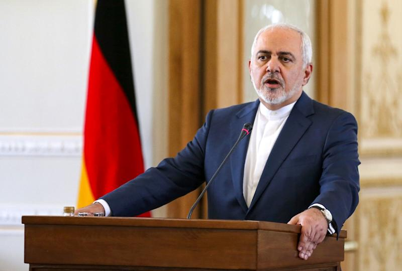 "Iran's Foreign Minister Mohammad Javad Zarif warns of consequences for the US ""economic war"" (AFP Photo/ATTA KENARE)"