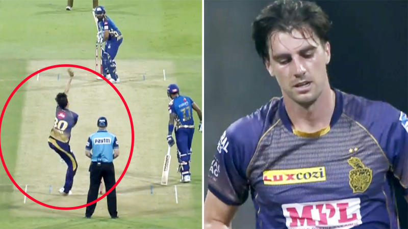 Pat Cummins, pictured here in action in the Indian Premier League.