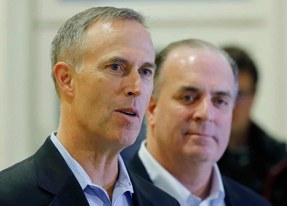 Reps. Jared Huffman (left) and Dan Kildee used to share a Capitol Hill row house with Democratic presidential candidate Beto O'Rourke. (Photo: ASSOCIATED PRESS)