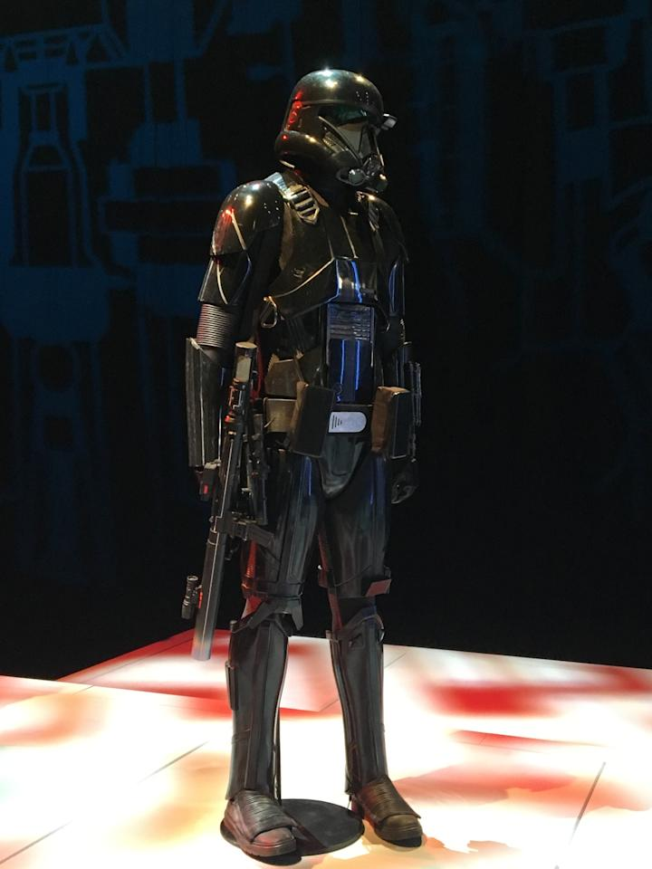 """<p>Krennic's bodyguards are """"the elite soldiers of Imperial Intelligence."""" To do the director's bidding, they're """"encased in specialized stormtrooper armor with a dark, ominous gleam.""""</p>"""