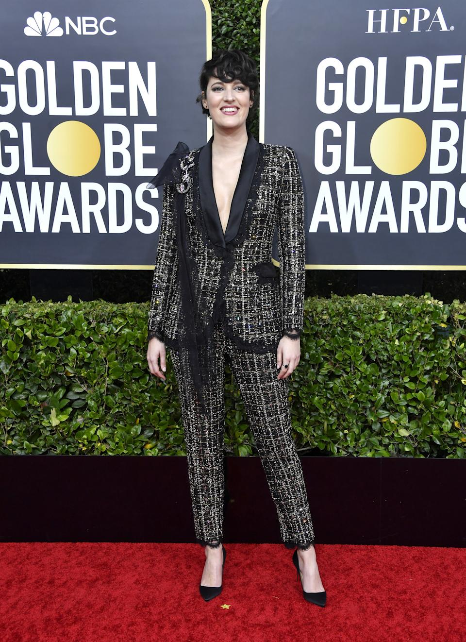 "<h1 class=""title"">Phoebe Waller-Bridge in Ralph & Russo, Christian Louboutin shoes, and Irene Neuwirth jewelry</h1><cite class=""credit"">Photo: Getty Images</cite>"