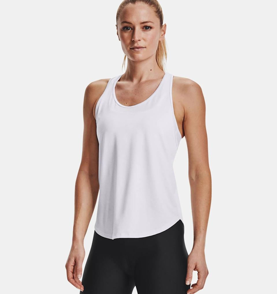 <p>Sweaty workouts call for this cute <span>Under Armour Tech Vent Tank</span> ($30).</p>