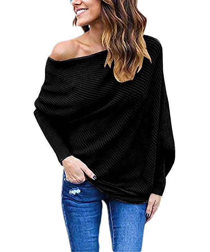 <p>This <span>Goldstitch Off Shoulder Batwing Pullover Sweater </span> ($17) will feel like rolling out of bed with your blanket still over your shoulders. It looks comfortable, roomy, yet put-together.</p>