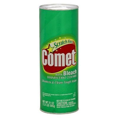 """<p><strong>Comet</strong></p><p>target.com</p><p><a href=""""https://www.target.com/p/comet-with-bleach-disinfectant-cleanser-scratch-free-21-oz/-/A-13219649"""" rel=""""nofollow noopener"""" target=""""_blank"""" data-ylk=""""slk:BUY IT HERE"""" class=""""link rapid-noclick-resp"""">BUY IT HERE</a></p><p>Just pour the powder into the sink or tub, mix with water, and scrub!</p>"""