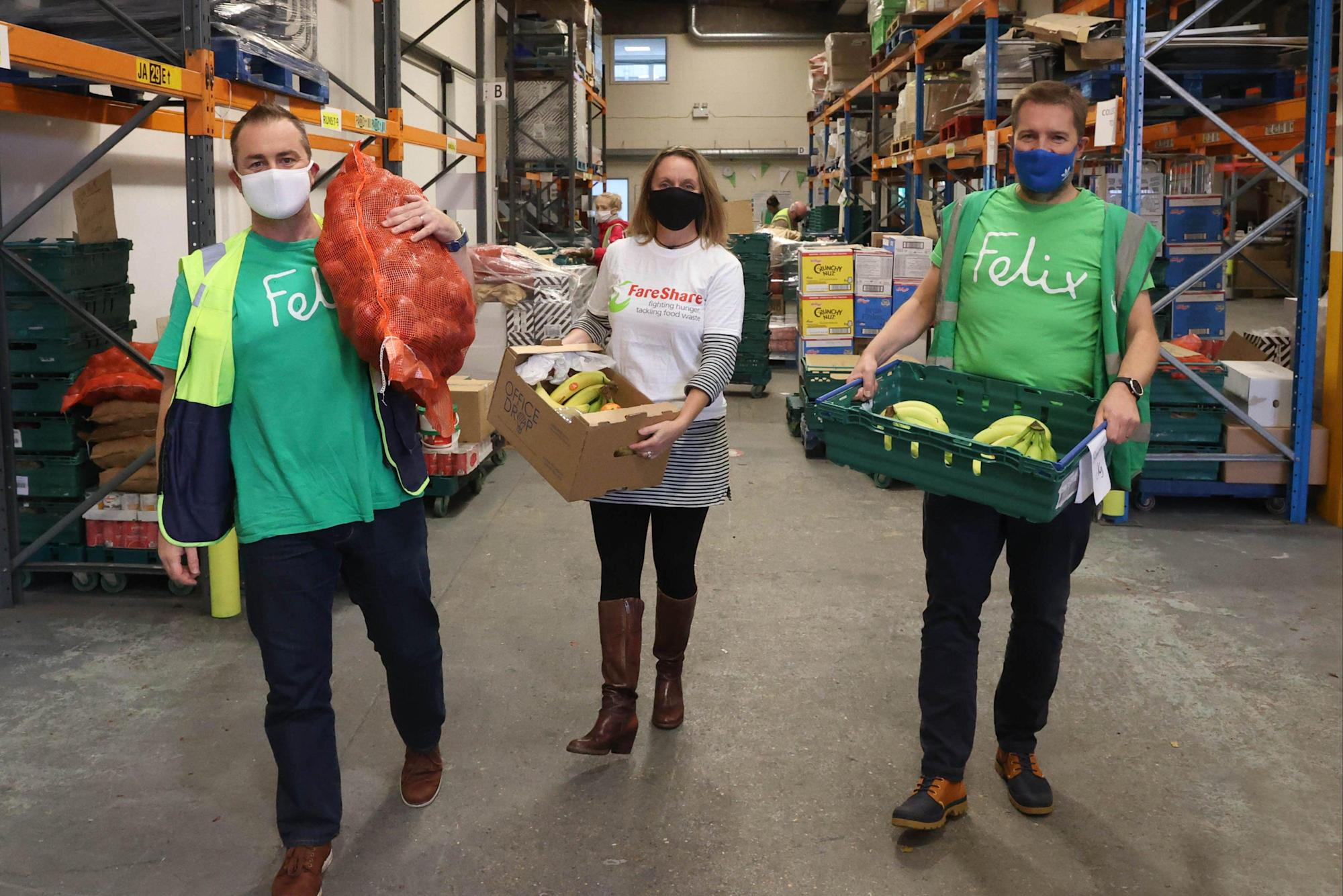 Food for London Now: Felix Project takes over south London depot of Marcus Rashford charity FareShare