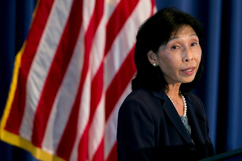 Nellie Liang, director of financial stability policy and research with the U.S. Federal Reserve, speaks during a financial stability analysis conference in Washington, D.C., U.S., on Friday, May 31, 2013. Federal Reserve Bank of Cleveland President Sandra Pianalto said at the conference so-called living wills to outline how failing banks will be shut down will help increase regulatory transparency for investors. Photographer: Andrew Harrer/Bloomberg via Getty Images