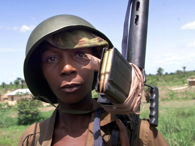 Child soldier in Sierra Leone in 2000: AFP/Getty Images