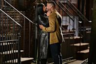 <p>Costars Chante Adams and Michael B. Jordan were spotted filming on the set of<em> Journal for Jordan</em> in New York City.</p>