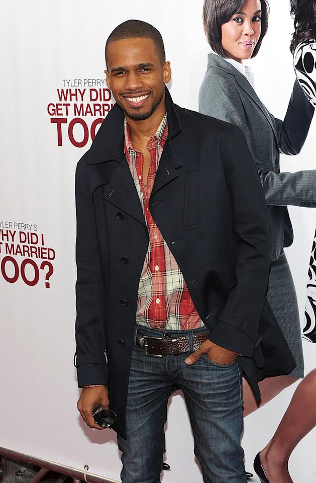 """<a href=""""http://movies.yahoo.com/movie/contributor/1809657372"""">Eric West</a> at the New York City premiere of <a href=""""http://movies.yahoo.com/movie/1810073266/info"""">Tyler Perry's Why Did I Get Married Too?</a> - 03/22/2010"""