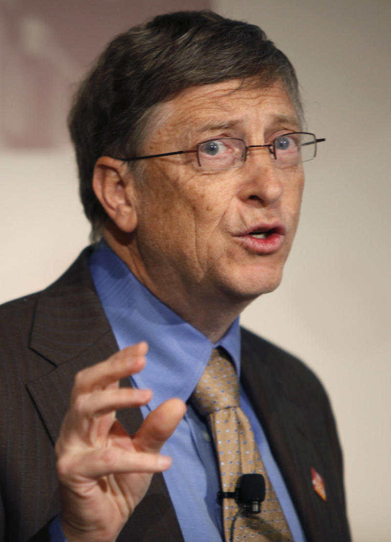Bill Gates, co-chair of the Bill and Melinda Gates Foundation, speaks during a news conference in New York, Monday, Jan. 31, 2011. Gates was there with partners to announce their push to eradicate polio. (AP Photo/Seth Wenig)