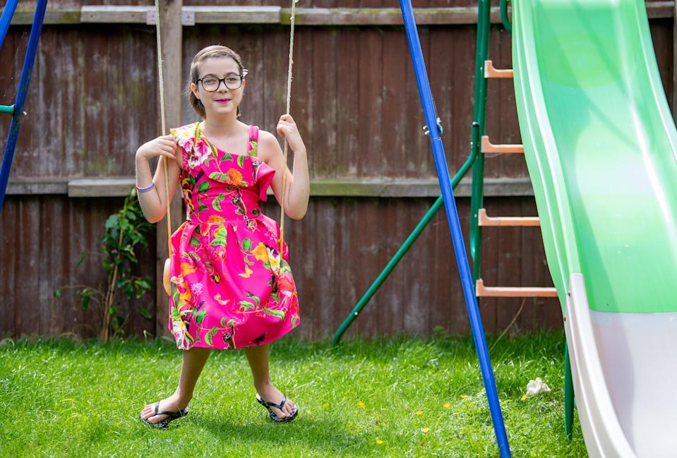 Kiya, 9, was diagnosed with a rare condition. (SWNS)