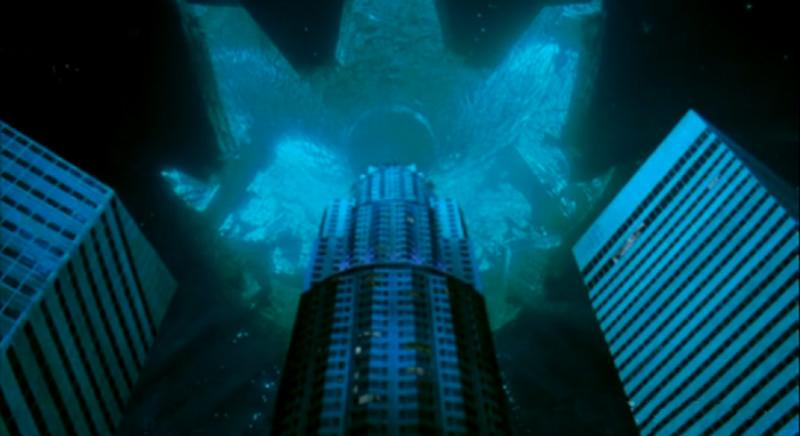"<b>Movie</b>: ""<a href=""http://movies.yahoo.com/movie/1800080780/info"">Independence Day</a>"" (1996)   <b>Catastrophe</b>: Alien invasion.   <b>Emmerich Scale L.A. Destruction</b>: 8.3 -- Downtown blows up. No word on the fate of the San Fernando Valley and its amazing malls.   <b>End Result</b>: Vanquished. Apparently the aliens never heard of Norton's antivirus software."