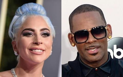 <span>Gaga and R.Kelly collaborated on a track in 2013</span> <span>Credit: AFP </span>