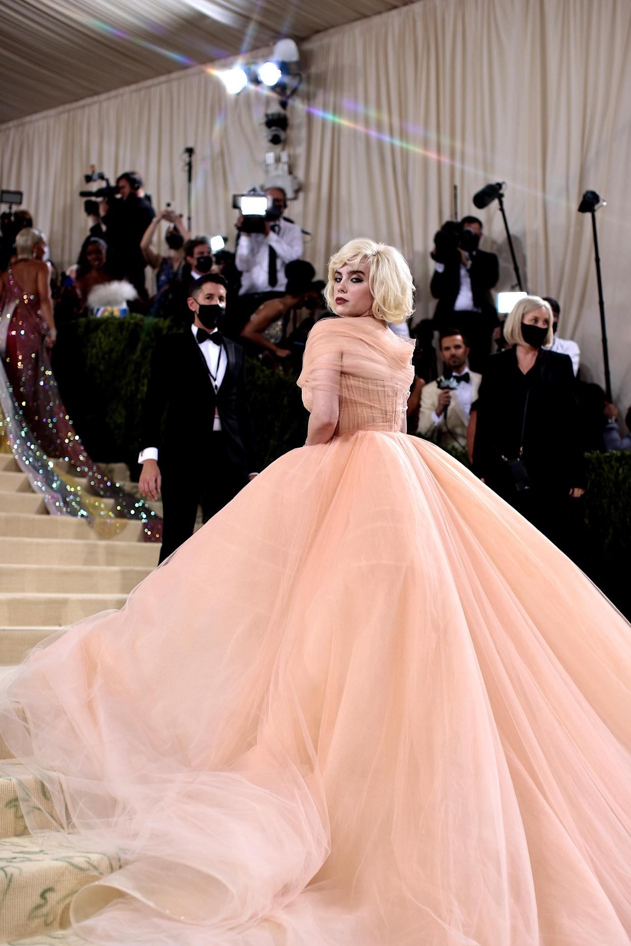 Billie Eilish attends The 2021 Met Gala Celebrating In America: A Lexicon Of Fashion at Metropolitan Museum of Art on September 13, 2021 in New York City. (Getty Images)