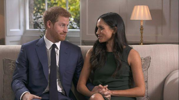 PHOTO: Britain's Prince Harry and his fiancee, U.S. actress Meghan Markle give their first interview following their engagement, Nov. 27, 2017. (Pool via Kensington Palace)
