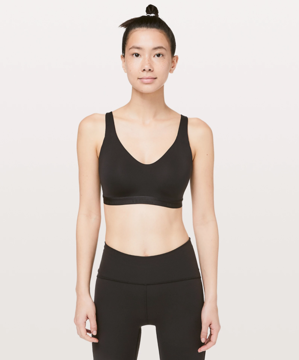 """<p><strong>Lululemon</strong></p><p>lululemon.com</p><p><a href=""""https://go.redirectingat.com?id=74968X1596630&url=https%3A%2F%2Fshop.lululemon.com%2Fp%2Fwomen-sports-bras%2FUp-For-It-Bra-MD%2F_%2Fprod9280334&sref=https%3A%2F%2Fwww.marieclaire.com%2Ffashion%2Fg33262976%2Flululemon-warehouse-sale-july-2020%2F"""" rel=""""nofollow noopener"""" target=""""_blank"""" data-ylk=""""slk:SHOP IT"""" class=""""link rapid-noclick-resp"""">SHOP IT </a></p><p><del>$79</del><strong><br>$29</strong></p><p>Nowadays, wearing a real bra is out of the question. (I mean, who wants to be poked and prodded by wires while they're Netflix and chilling?) Fortunately, Lululemon's Up For It bra offers plenty of support sans wires.</p>"""
