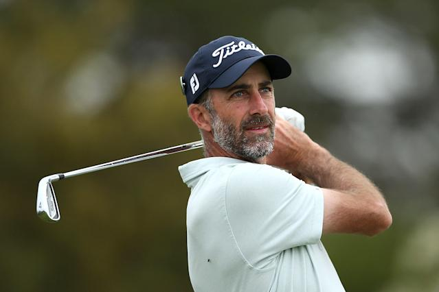 """<h1 class=""""title"""">ISPS Handa Vic Open - Day Two</h1> <div class=""""caption""""> GEELONG, AUSTRALIA - FEBRUARY 07: Geoff Ogilvy of Australia tees off on the 14th Creek Course hole during Day Two of the ISPS Handa Vic Open at 13th Beach Golf Club on February 07, 2020 in Geelong, Australia. (Photo by Jack Thomas/Getty Images) </div> <cite class=""""credit"""">Jack Thomas</cite>"""