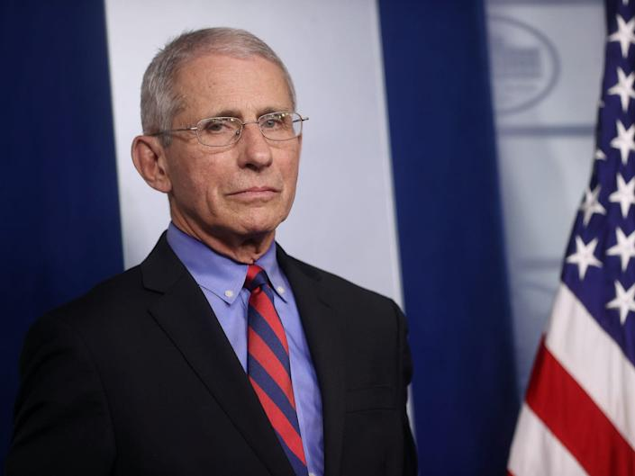 Dr. Anthony Fauci at the White House coronavirus task force briefing on March 25, 2020.