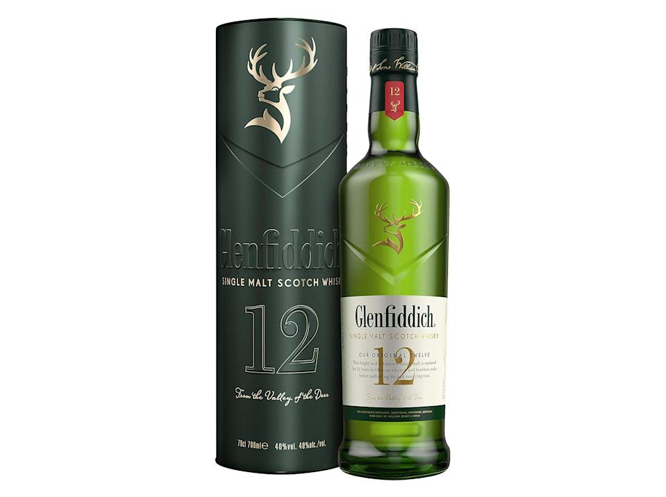 Glenfiddich 12-year-old single malt scotch whisky with limited release gift tin, 70cl: Was £42, now £32, Amazon.co.uk (IndyBest)
