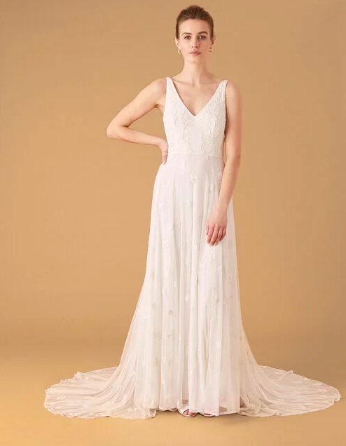 """<p><a class=""""link rapid-noclick-resp"""" href=""""https://go.redirectingat.com?id=127X1599956&url=https%3A%2F%2Fwww.monsoon.co.uk%2Fkate-beaded-floral-bridal-dress-ivory-14998046.html&sref=https%3A%2F%2Fwww.prima.co.uk%2Ffashion-and-beauty%2Ffashion-tips%2Fg34510%2Fwedding-dresses-under-500-pounds%2F"""" rel=""""nofollow noopener"""" target=""""_blank"""" data-ylk=""""slk:SHOP NOW"""">SHOP NOW</a></p><p>The natural pleated layers and embroidered detailing of this wedding gown makes it ultra-romantic. </p><p>Kate beaded floral bridal dress ivory, £499, <a href=""""https://www.monsoon.co.uk/kate-beaded-floral-bridal-dress-ivory-14998046.html"""" rel=""""nofollow noopener"""" target=""""_blank"""" data-ylk=""""slk:Monsoon"""" class=""""link rapid-noclick-resp"""">Monsoon</a> </p>"""