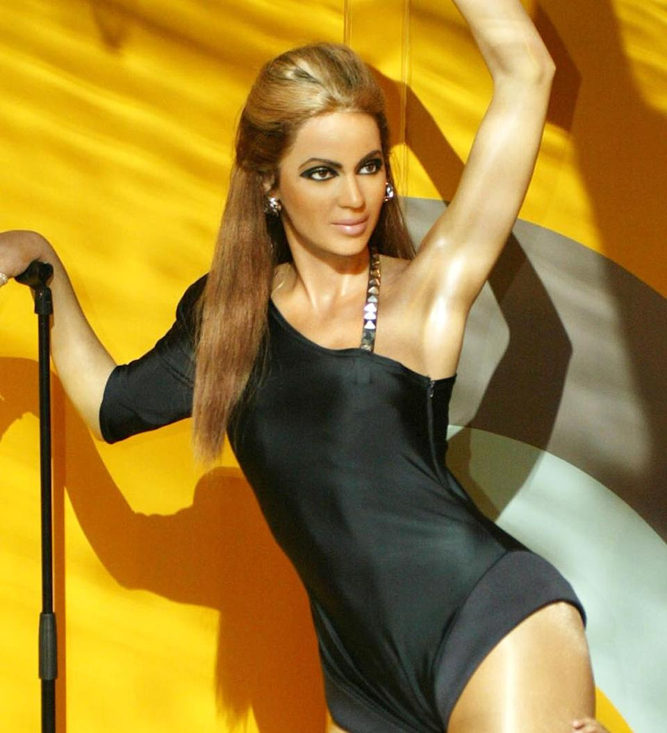 <p>The only thing real looking about this Beyonce waxwork from the Washington Madame Tussauds is the sadness in its eyes. Copyright: [Wenn] </p>