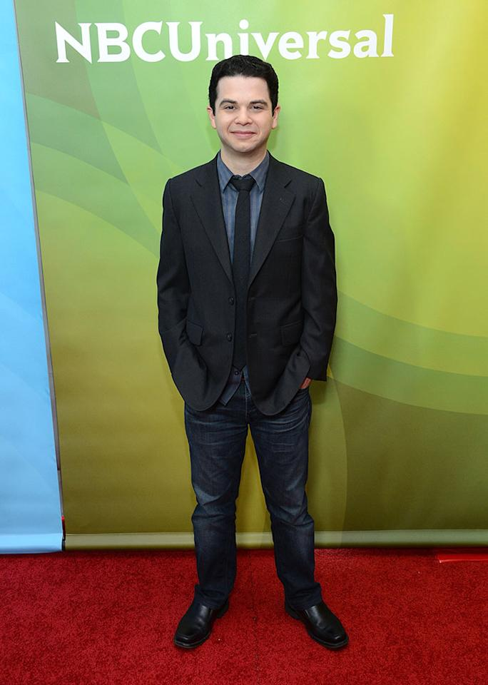 """Samm Levine attends NBCUniversal's """"2013 Winter TCA Tour"""" Day 1 at Langham Hotel on January 6, 2013 in Pasadena, California."""