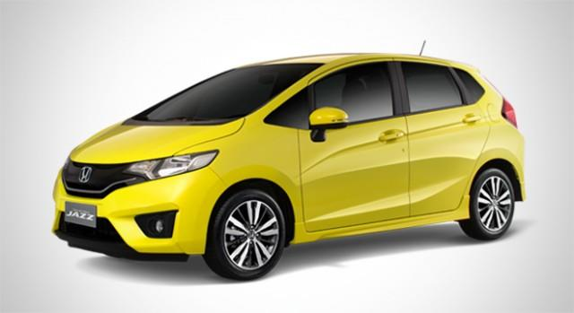 Yellow Honda Jazz
