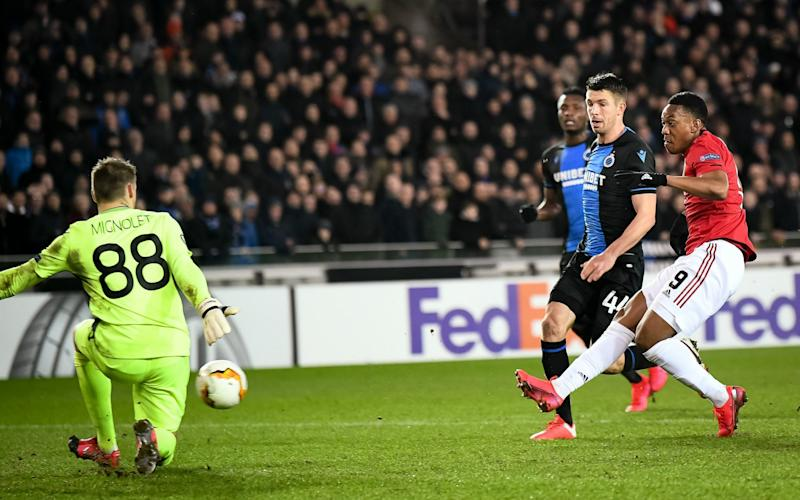 Anthony Martial scores Manchester United's equaliser - Getty Images