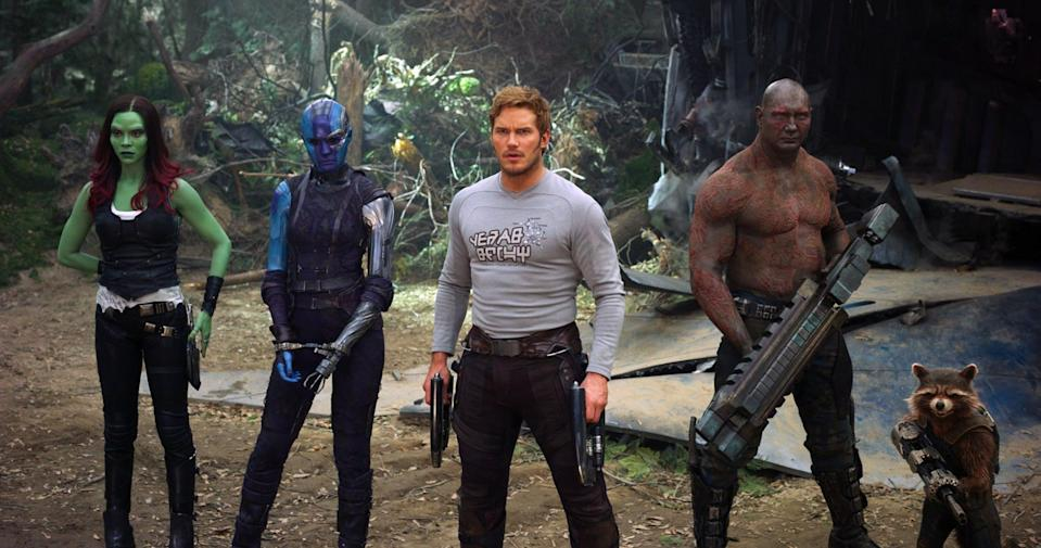 """<p>The journey to <span><strong>Guardians of the Galaxy Vol. 3</strong></span> has been a long and dark one, but we're finally back at it again. While the project was <a href=""""https://www.popsugar.com/entertainment/Guardians-Galaxy-3-Production-Put-Hold-45202125"""" class=""""link rapid-noclick-resp"""" rel=""""nofollow noopener"""" target=""""_blank"""" data-ylk=""""slk:previously on hold"""">previously on hold</a> after the firing of director James Gunn, <a href=""""https://www.popsugar.com/entertainment/James-Gunn-Directing-Guardians-Galaxy-3-45923261"""" class=""""link rapid-noclick-resp"""" rel=""""nofollow noopener"""" target=""""_blank"""" data-ylk=""""slk:his rehiring"""">his rehiring</a> has put the project back on track. The film has been pushed back until after Gunn finishes his work on the <a href=""""https://www.popsugar.com/entertainment/Suicide-Squad-2-Details-43182790"""" class=""""link rapid-noclick-resp"""" rel=""""nofollow noopener"""" target=""""_blank"""" data-ylk=""""slk:Suicide Squad""""><strong>Suicide Squad</strong></a> sequel, but we already <a href=""""https://www.popsugar.com/entertainment/Guardians-Galaxy-3-Details-43316239"""" class=""""link rapid-noclick-resp"""" rel=""""nofollow noopener"""" target=""""_blank"""" data-ylk=""""slk:have some details"""">have some details</a> on the story. </p> <p><strong>Release date:</strong> May 5, 2023</p>"""