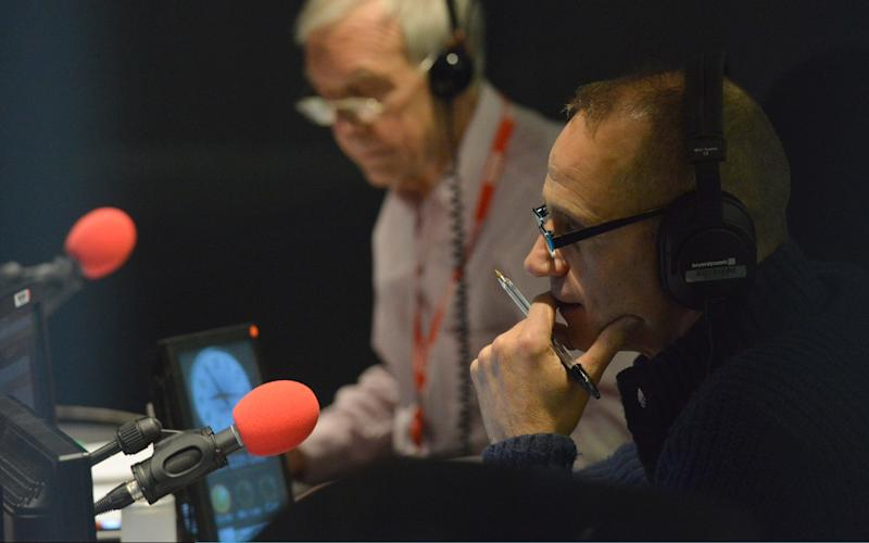 Today's John Humphrys with former presenter Evan Davis