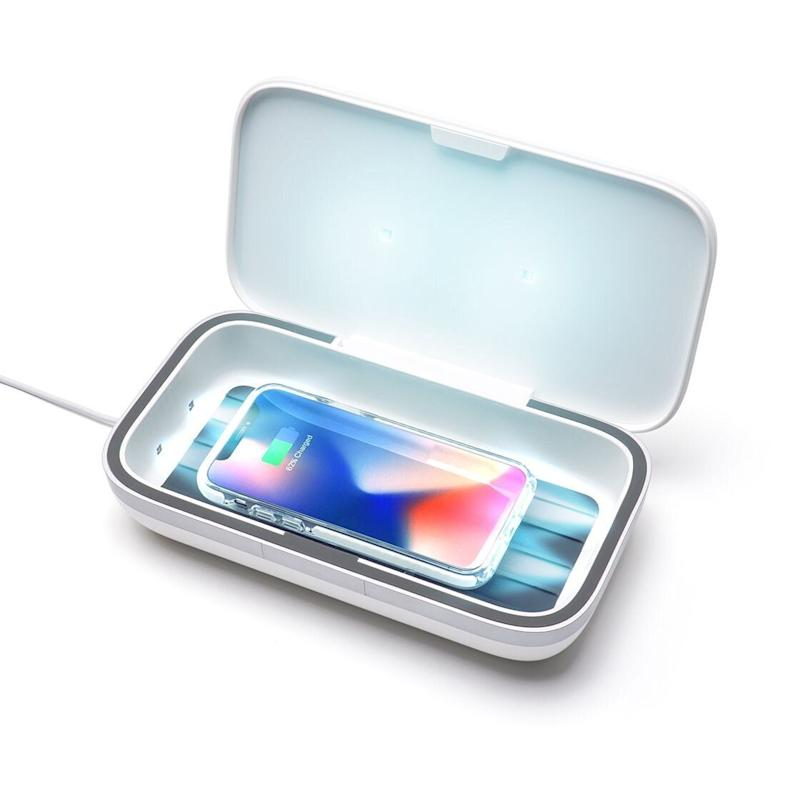 "This UV sanitizer disinfects devices in just three minutes and charges your phone, too. <a href=""https://fave.co/2Ey0Y4z"" target=""_blank"" rel=""noopener noreferrer"">Find it for $120 at Casetify</a>."