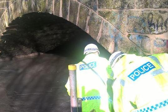 Rave: 'Illegal' party stopped by cops after revellers wade through dirty water to access it: Northumbria Police/Facebook