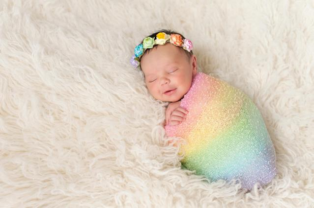 Parents are opting for rainbow names during lockdown. (Getty Images)