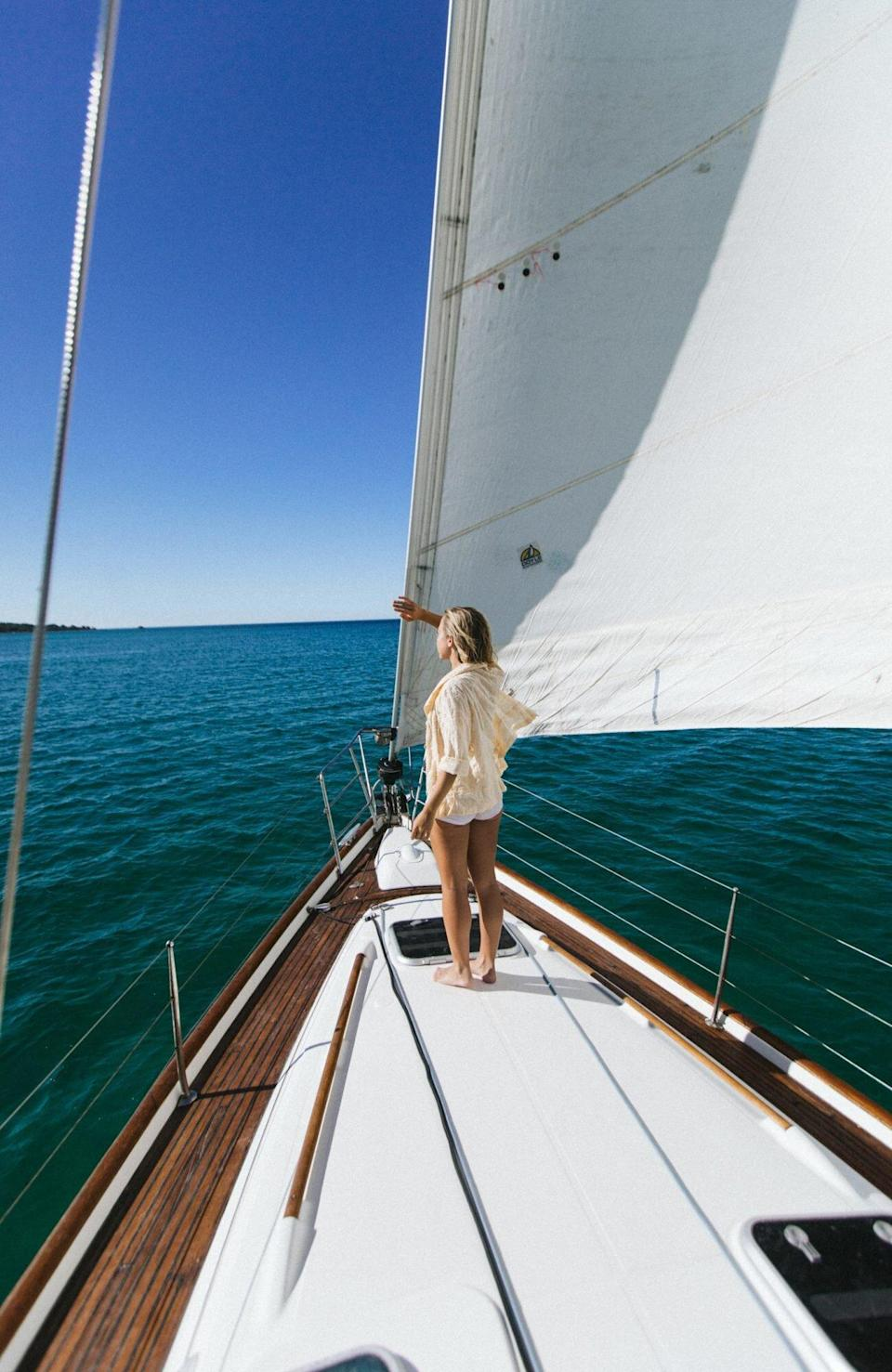 Sailing in France