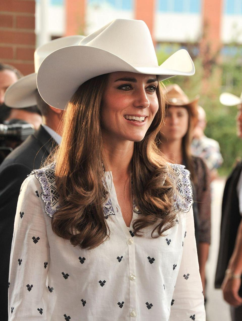 <p>Not all hats are fancy, and even the royals dress down sometimes. For a visit to the Calgary Stampede in Canada, the Duchess of Cambridge went full-on cowgirl.<br></p>
