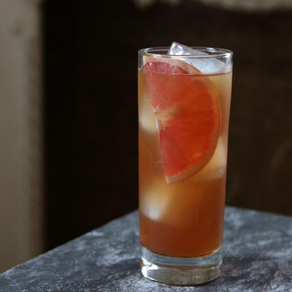 """<p>In a tall glass with ice, combine 1.5 ounces of Cardamaro, 2 ounces of fresh grapefruit juice, and 2 ounces of club soda. Give a quick stir and garnish with a grapefruit slice.</p> <p> <a href=""""http://www.foodandwine.com/fwx/drink/what-cardamaro-and-why-should-you-drink-it-right-now"""">More Cardamaro recipes</a></p>"""