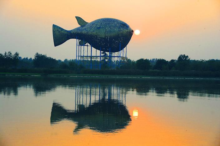 Yangzhong is known for its skill in preparing the puffer fish. There was even a Puffer Fish Tower at the Garden Expo on Xisha Island in China.