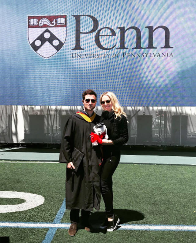 """<p>One year after Tiffany Trump graduated from University of Pennsylvania, her college sweetheart, Ross Mechanic, followed in her footsteps. The president's daughter returned to her alma mater on May 15 for the ceremony. He wrote that he is """"ready for the next chapter,"""" and while he didn't elaborate on what that is, Tiffany recently announced her plans to attend Georgetown Law School this fall. (Photo: Ross Mechanic via Instagram) </p>"""
