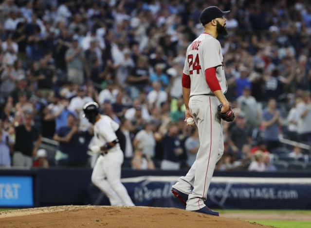 David Price gave up five home runs against the New York Yankees on Sunday. (AP Photo/Frank Franklin II)