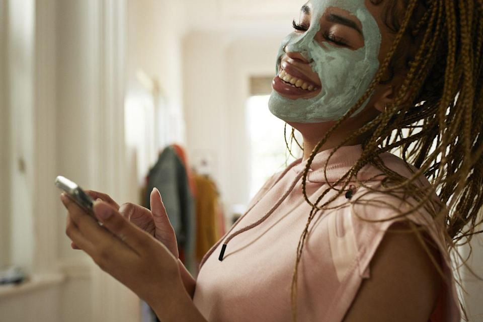 <p>When I'm home alone, I love to slather on a mud mask and scare myself every time I pass a mirror. Cold winter air outside and artificially heated air inside can all dry out your skin, so your face will thank you for giving it some pampering. </p>
