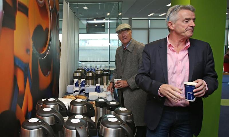 Michael O'Leary, right, at Ryanair's AGM last week