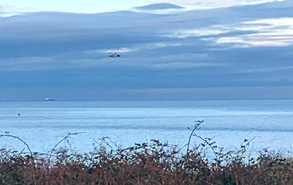 HM Coastguard said it was co-ordinating a search in the Puffin Island area near Anglesey after the light aircraft disappeared from radar at around midday on Monday. (PA)