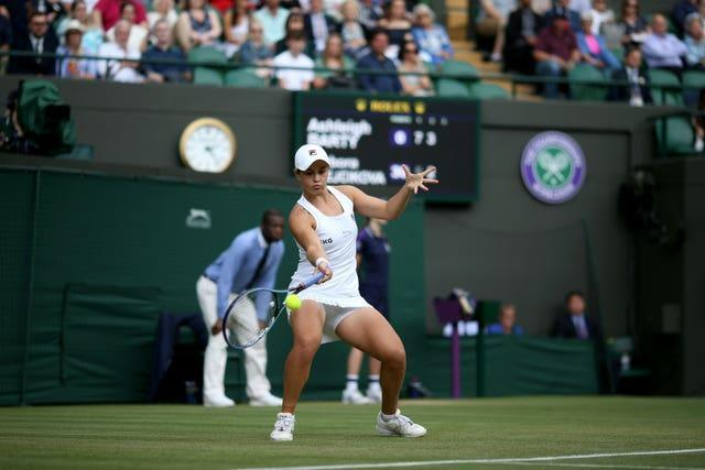 Ashleigh Barty in action