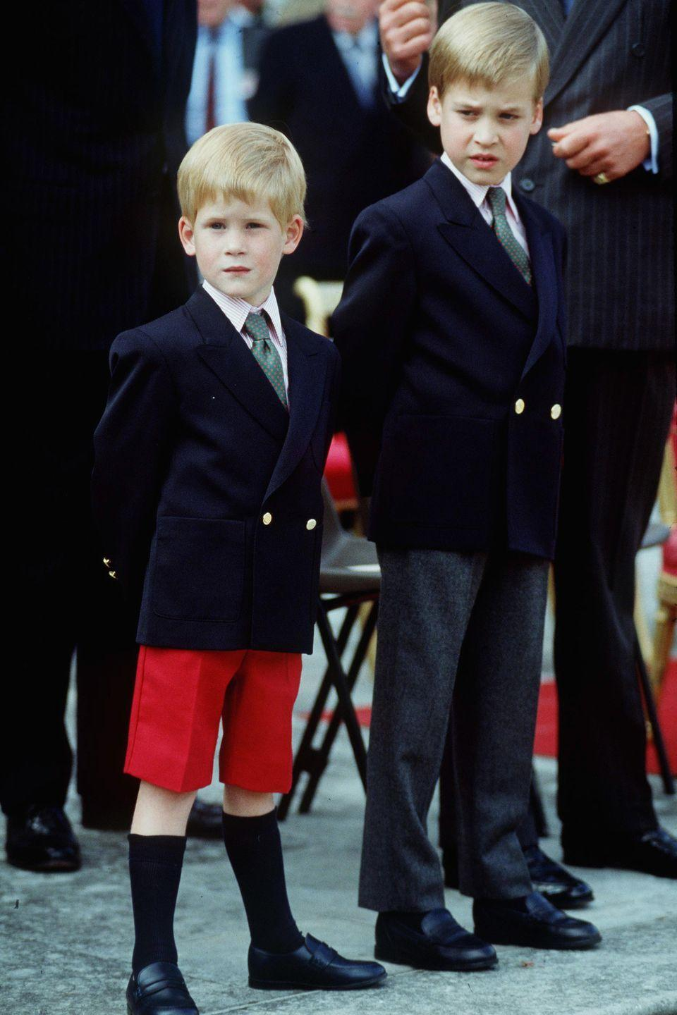 <p>Harry attends his first official royal engagement with Prince William, the 'Beating The Retreat' Parade at Kensington Palace.</p>