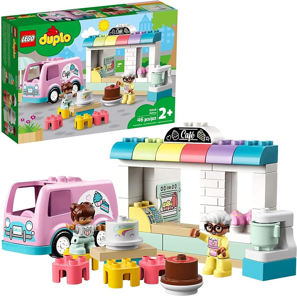 <p>The <span>Lego Duplo Town Bakery Set</span> ($35) has 46 pieces and is best suited for kids ages 2 and up.</p>